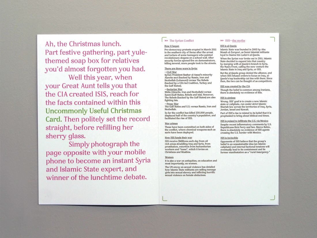 Uncommonly Useful Christmas Cards | Best Awards