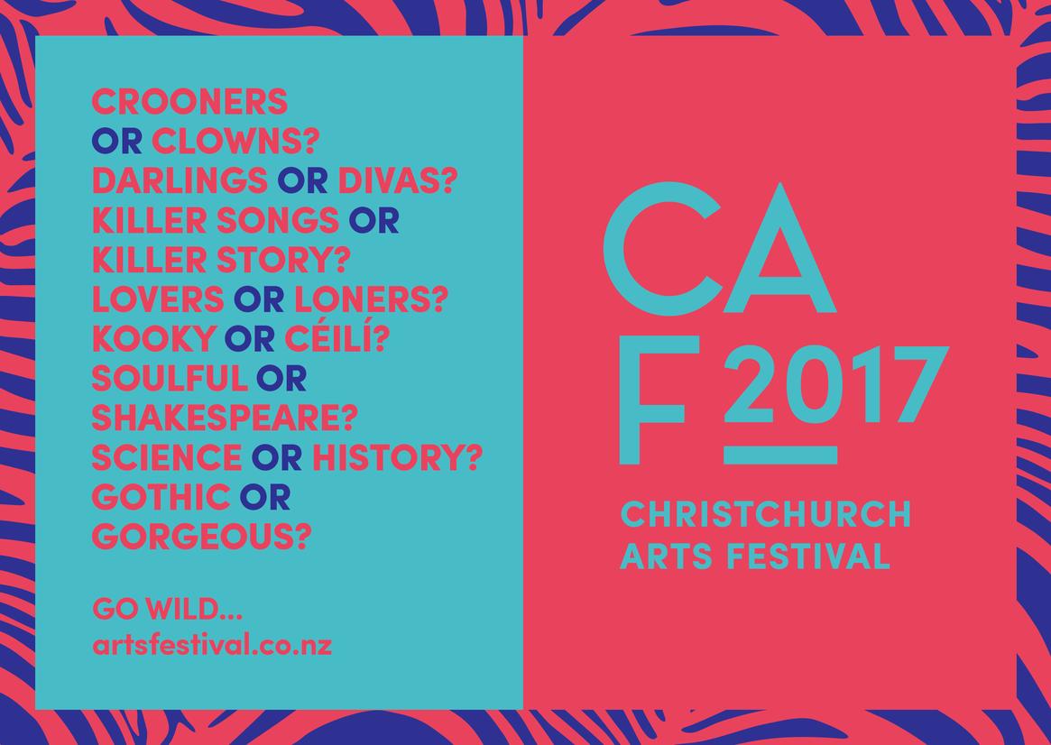 Poster design winners - Imagic Creative Christchurch Arts Festival Colour Award Graphics
